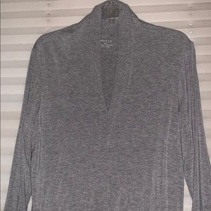 V-neck cotton blouse